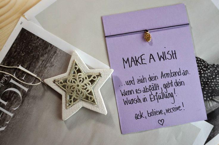 DIY Weihnachten DIY Weihnachtsgeschenk Idee Armband DIY Make a Wish Bracelet