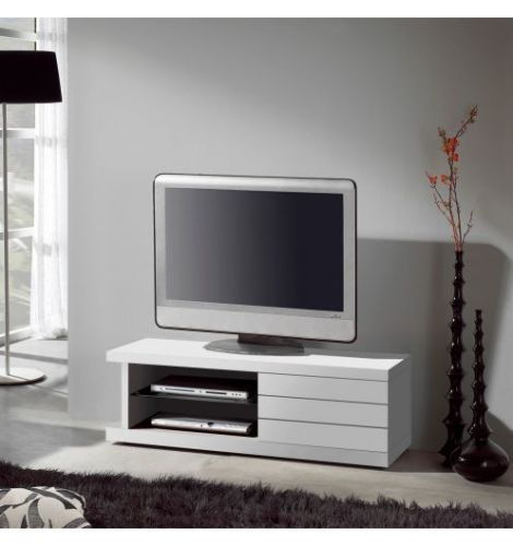 Meuble tv living blanc laque for you meilleure for Living meuble tv