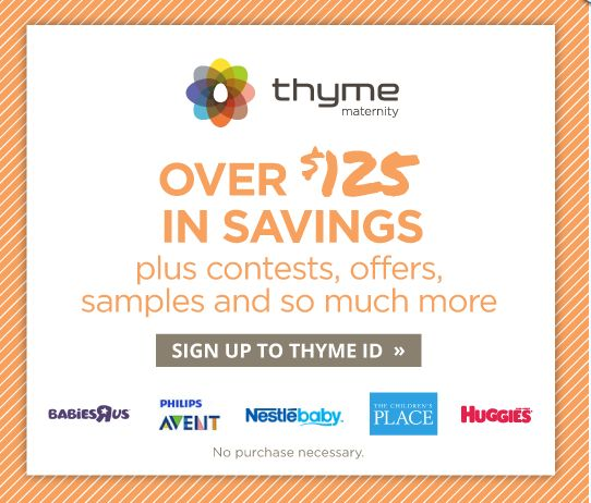 Thyme ID to get FREE mom-to-be perks and enjoy over $125 ...