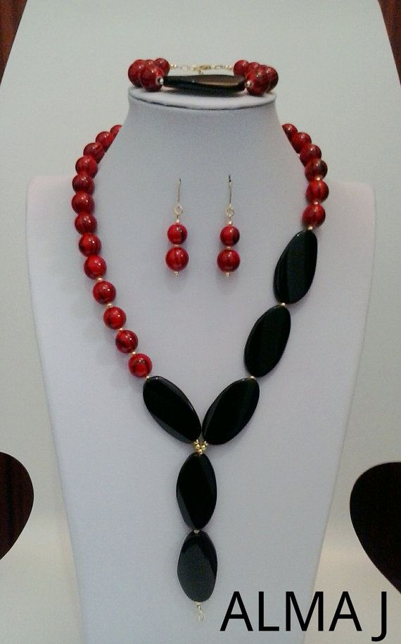Hand Made Necklace Set 4 Pieces VERMEILGold by ALMAJDESIGNS, $46.00