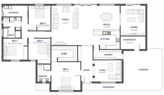 Floor Plan Friday Wide Frontage Family Home House Floor Plans Floor Plans How To Plan
