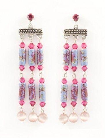 Long purple earrings, by Art Wear Dimitriadis