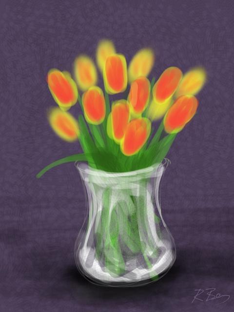 Tulips by BrushesApp.