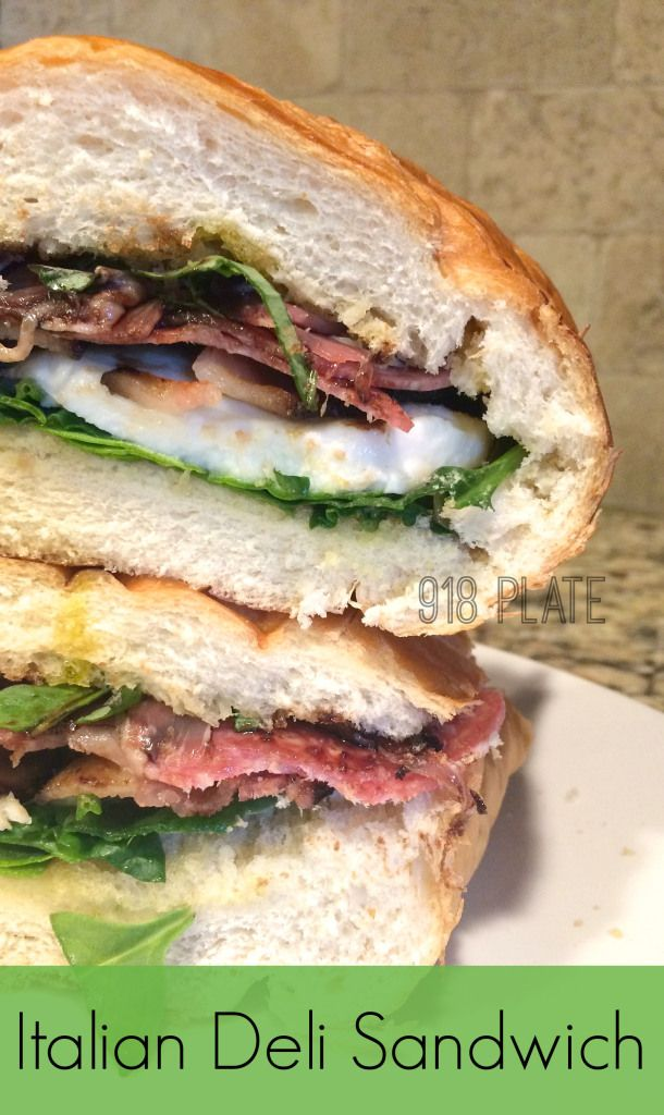 This Italian Deli sandwich is a copycat of Andolini's Pizzeria in Tulsa, OK!