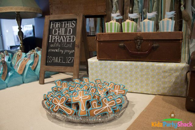 Rustic Baptism Party Ideas | Photo 1 of 11 | Catch My Party