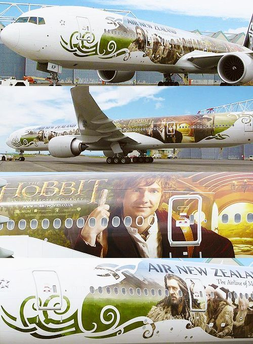 "- ""The Hobbit"" themed Air New Zealand Boeing 777-300....."