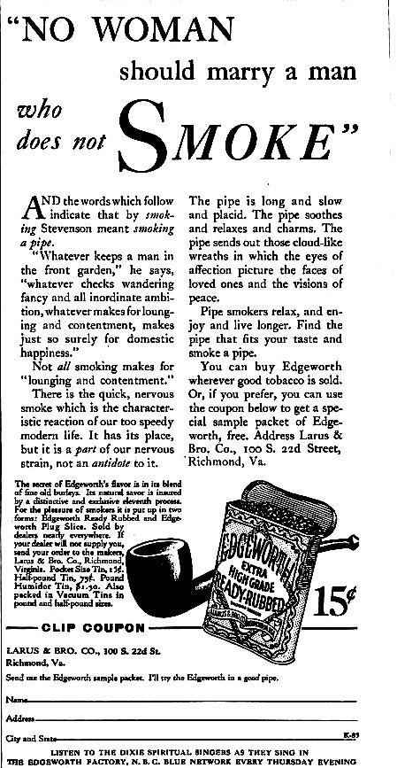 Vintage pipe ad.  Goodfellas Cigar Shop
