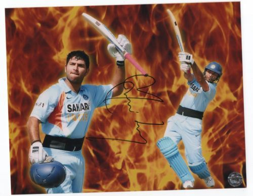 India Cricket : Yuvraj Singh Signed 8 X 10 Picture