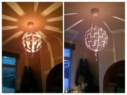 Ikea PS light. Sun rays when open, Death Star when closed.