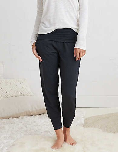 Aerie Real Soft® Jogger Pant, Charcoal Heather | Aerie for American Eagle