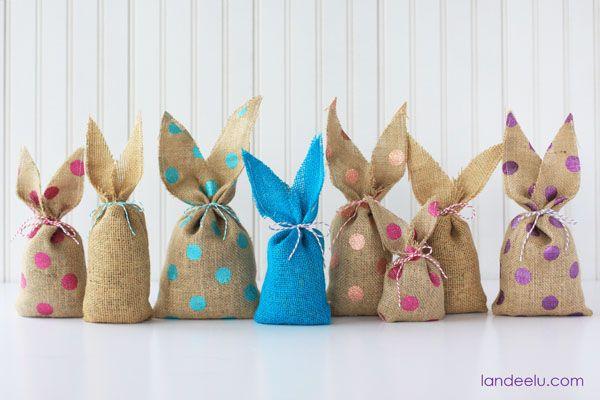 Presenteie este ano com artesanato com coelhos de Páscoa (Foto: landeeseelandeedo.com)