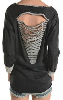 Embellished Sweater Charcoal - Winter 2015 Collection - WHAT WOMEN WANT