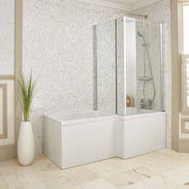 Stylish L-Shaped Shower Baths | bathstore