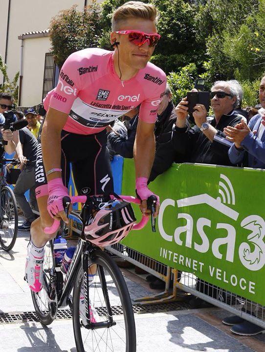 Marcel Kittel looking fabulous in the maglia rosa, Giro 2016