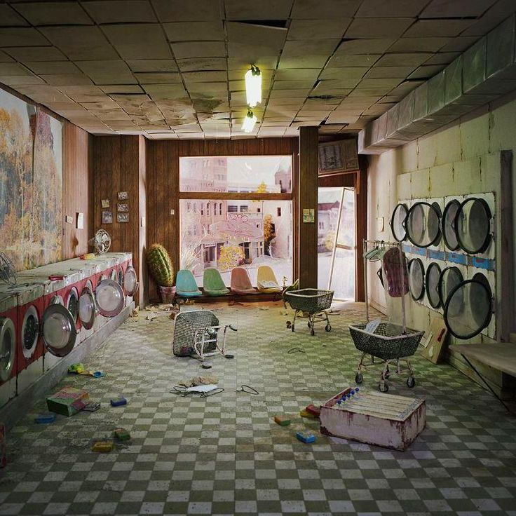 Your local Laundromat #AfterHumans. Image by Lori Nix.