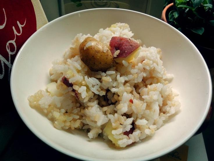 Rice with potato & sweet potato by HoniBee.