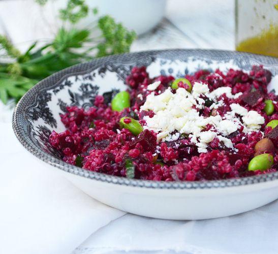 Salade de Quinoa, Betteraves et Edamames : celle-ci est idéale comme salade repas et se conserve très bien au frigo. J'adore le fait que la betterave ...