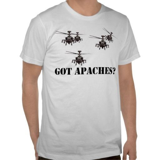 Apache Helicopter Shirt