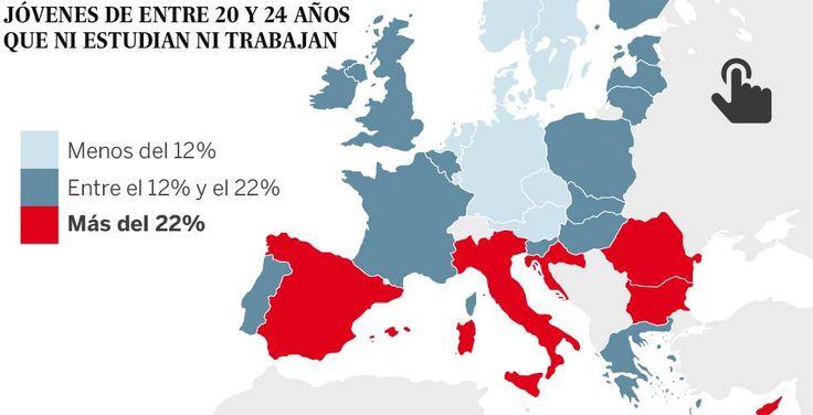 El paro juvenil coloca a España entre los países con más veinteañeros 'ninis'