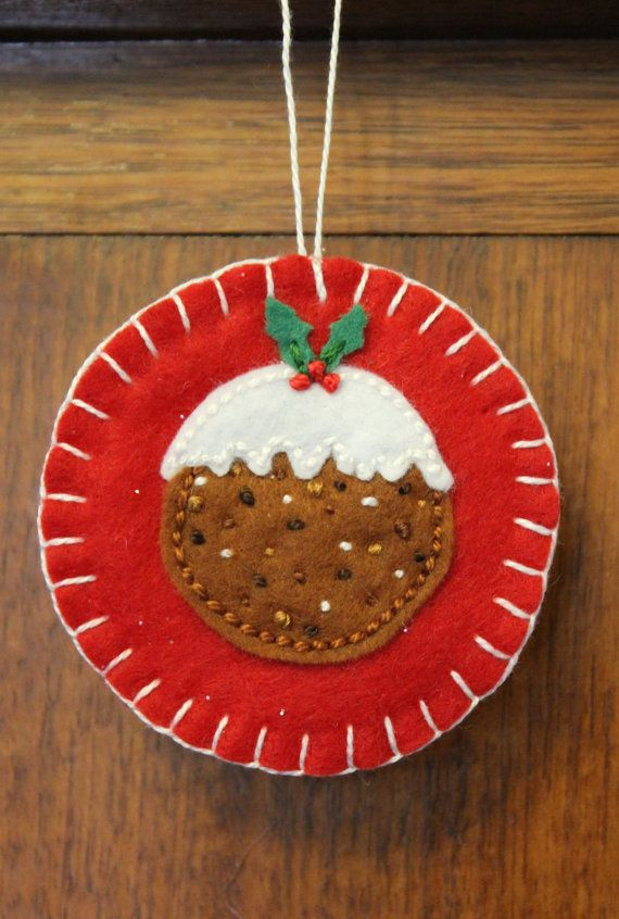 Plum Pudding Christmas Ornament. by PuddleducklaneAgain on Etsy