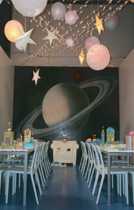 Pin by jennifer becerra on party ideas pinterest for Space themed curtains