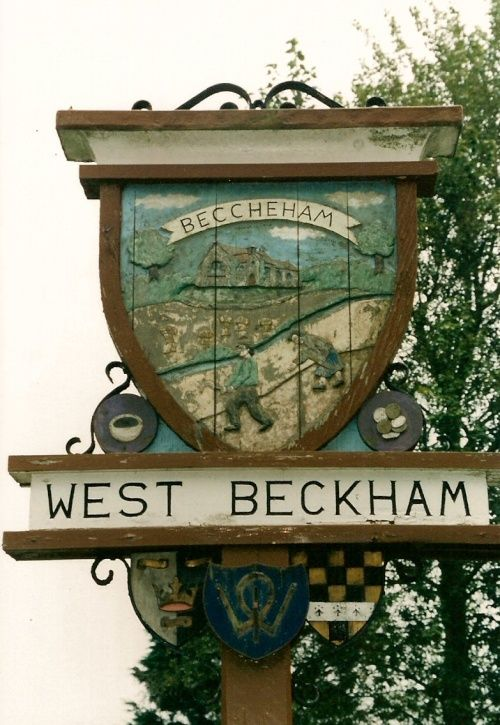 West Beckham, Norfolk - sign donated by the local Women's Institute.