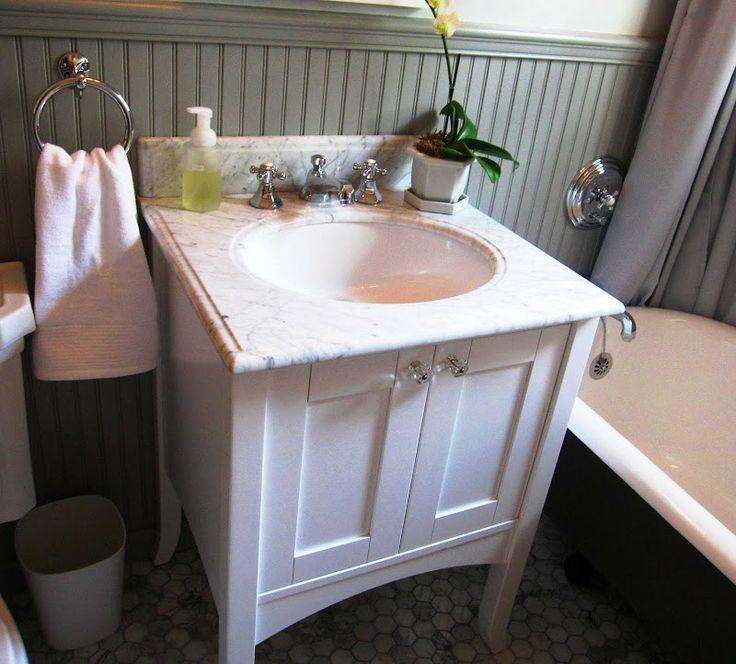 White Marble Topped Vanity Home Pinterest