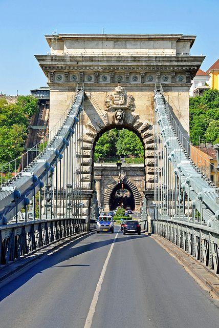 Crossing Chain Bridge, Gallert, Budapest - Hungary