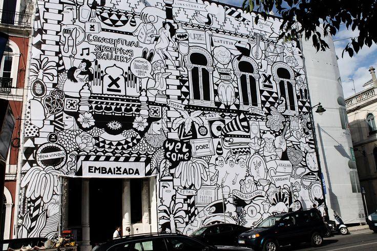 Installation de Vanessa Teodoro. Embaixada.