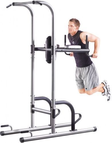 New Power Tower w/Push Up Pull Up and Dip Stations Exercise Fitness Gym Workout. #GoldsGym