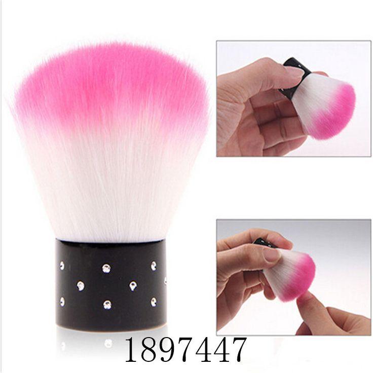 1 peça prego de rosa arte poeira escova de limpeza para acrílico UV Gel Nail Art polonês unhas poeira Cleaner ferramentas da arte do prego Make Up Brush alishoppbrasil