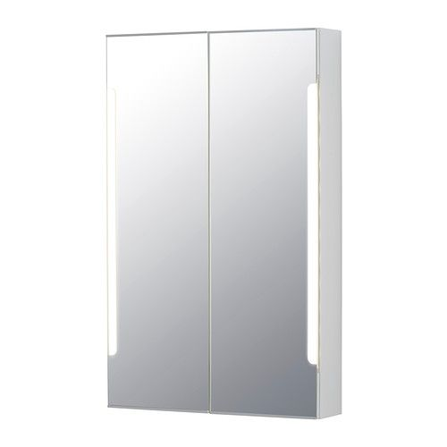 STORJORM Mirror cabinet w/2 doors & light - 23 5/8x5 1/2x37 3/4 $230 Would have been really nice if they had this last month when we replaced the mirror in the master en suite... Damnit IKEA