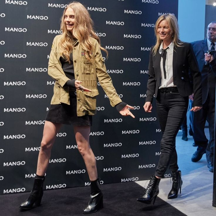 Cara Delevingne and Kate Moss at Mango store opening in Milan on September 23. Photo via Mango. - This photo of them makes me feel better about my life.