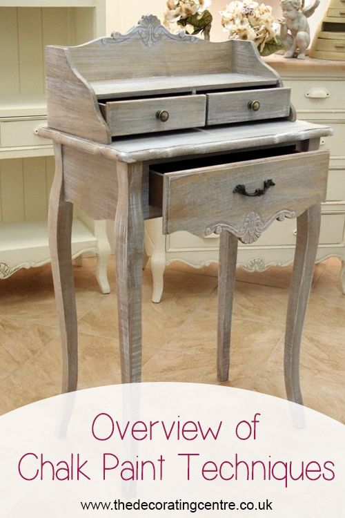 Different chalk paint techniques will create different results on your furniture - see tips for creating different styles here.