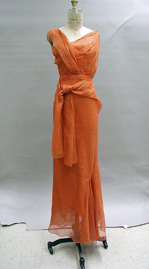 ~Evening ensemble Elsa Schiaparelli  (Italian, 1890–1973) Date: 1939 Culture: French Medium: silk~