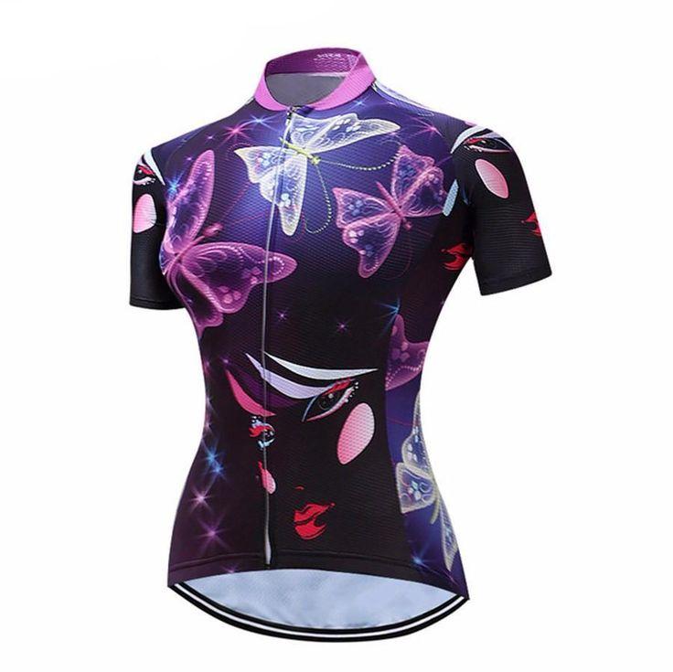 Women's Glowing Butterfly Cycling Jersey – Online Cycling Gear
