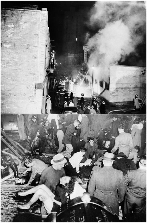 1942 coconut grove fire During the early days of world war ii, a major fire struck the cocoanut grove nightclub in boston, massachusetts on the night of the fire, november 28, 1942, the club had approximately 1,000 occupants, many of whom were people preparing to go overseas on military duty.