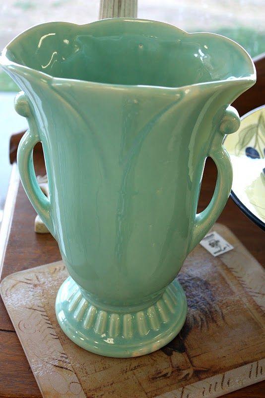 McCoy Vase: Google Image, Mccoy Pottery, Art Pottery, Mccoy Vase, Pink Rose, Colors Turquoi, Decor Mccoy, Collection Pottery, Antiques Shops