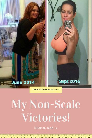 Read her non-scale victories and transformation success story! Before and after fitness motivation and beginner tips from women who hit their weight loss goals and got THAT BODY with training and meal prep. Learn their workout tips get inspiration!   TheWeighWeWere.com