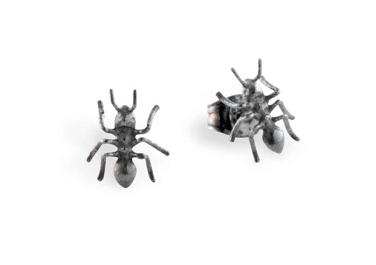 Mini Ant earrings by BugsAndAnts on Etsy