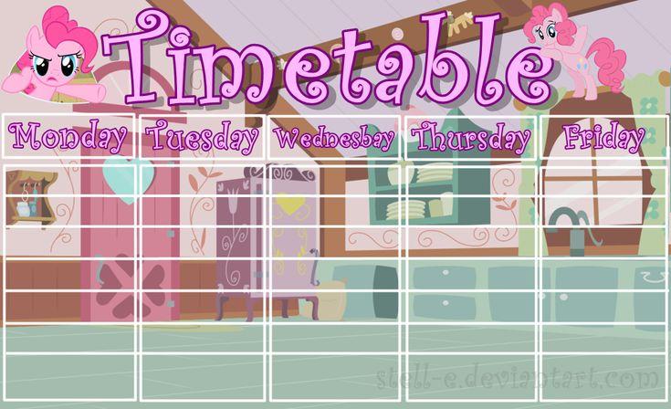 Pinkie Pie timetable by Stell-e.deviantart.com on @DeviantArt
