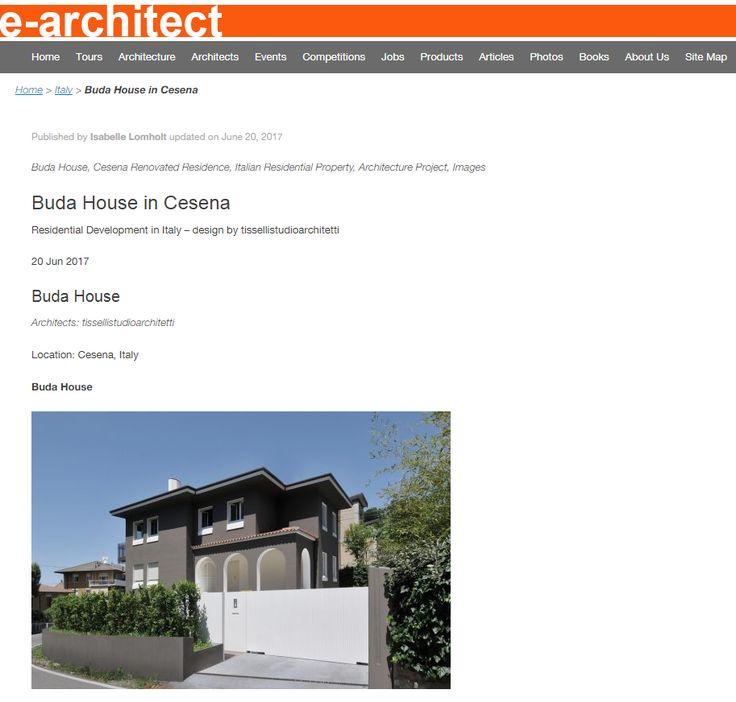 #tissellistudio single family villa in Cesena, published by e-architect
