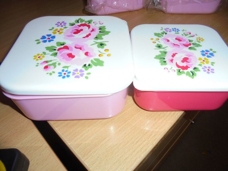 BNWT Cath Kidston Lunch boxes x2 in a set | eBay