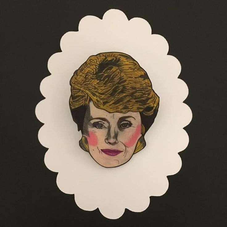 GOLDEN GIRLS - Rue McClanahan as Blanche Devereaux - Hand Drawn Shrink Plastic Brooch Pin Back by Silla Dilla Grape by SillaDillaGrape on Etsy