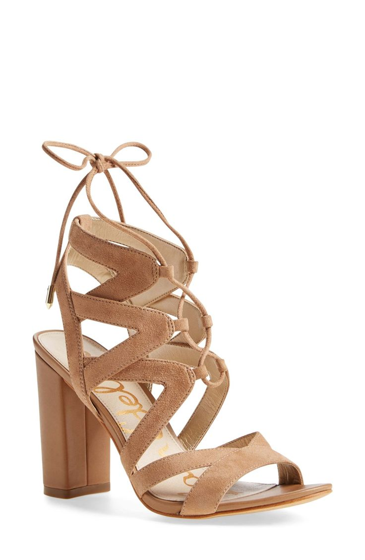 These trend-savvy lace-up sandals are too cute for spring. Pairing these beauties with a dress or denim depending on the occasion.