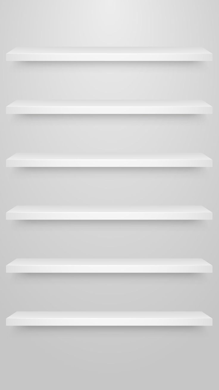 ↑↑TAP AND GET THE FREE APP! Shelves Simple White Minimalistic Unicolor HD iPhone 6 plus Wallpaper