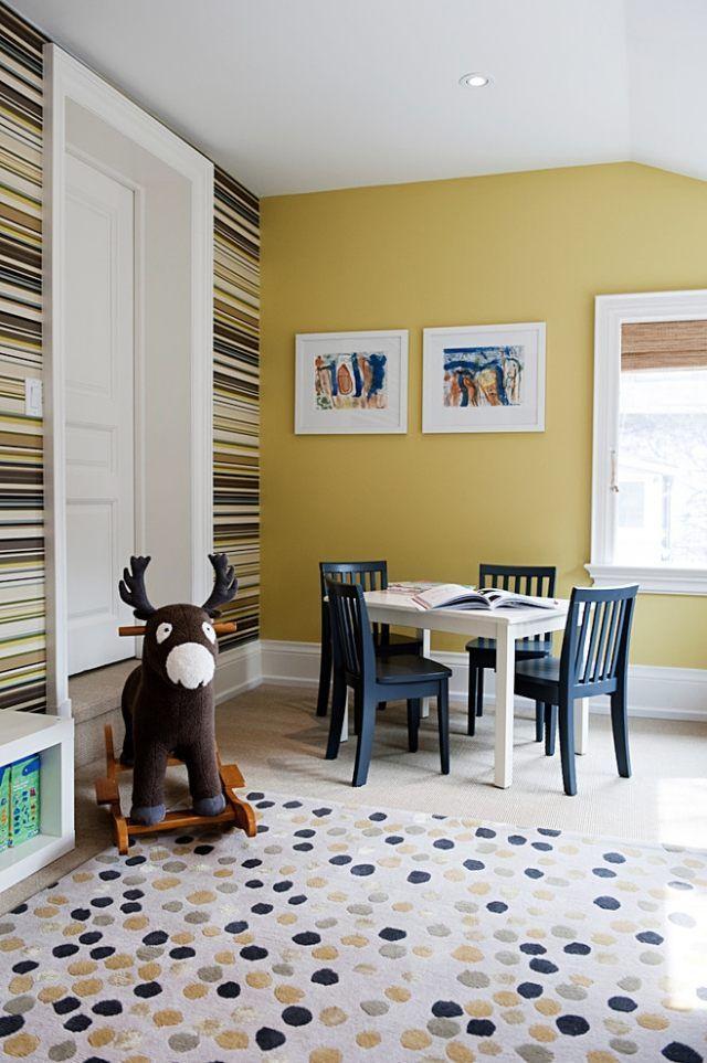 Peinture chambre enfant et bébé: 20 idées pour intégrer les nuances du jaune!