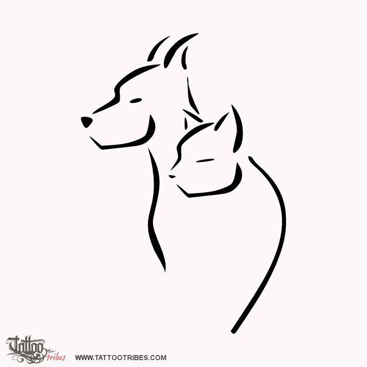 картинки тату кошки собаки что это