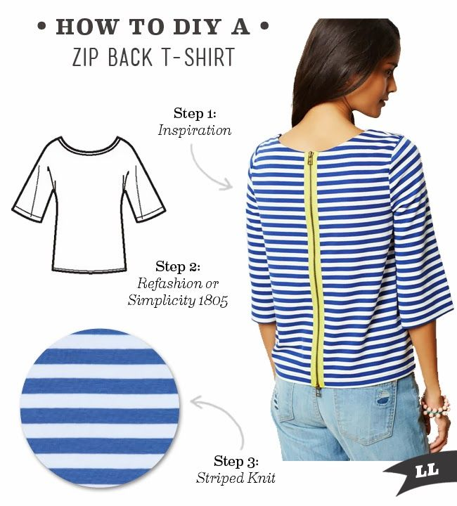 Lula Louise: DIY Outfit – Zip Back T-shirt