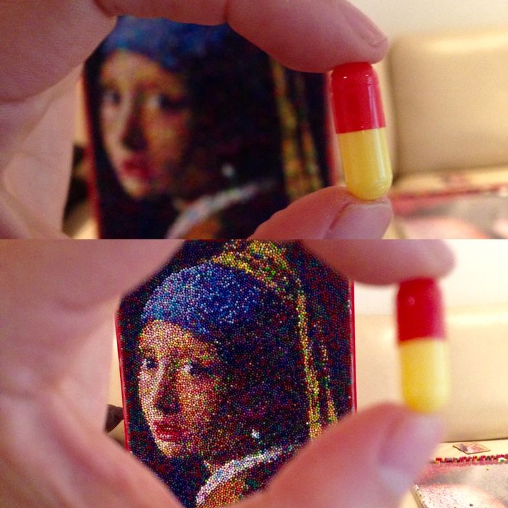 Art with Pills, Girl with a Pearl Earring, Vermeer